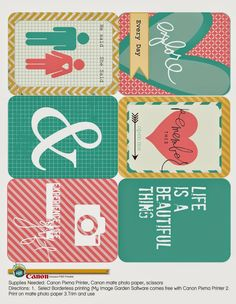 Free Printables by Heidi Swapp - Project Life Project Life Freebies, Project Life Cards, Project Life Planner, Pocket Scrapbooking, Scrapbook Cards, Project Life Scrapbook, Printable Paper, Rilakkuma, Journal Cards