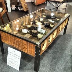 reclaimed wine tasting / flight console table | handmade, handmade