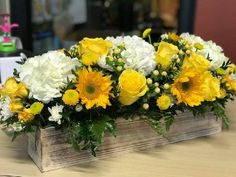 Send Sunny delight in Methuen, MA from Valley Florist, the best florist in Methuen. All flowers are hand delivered and same day delivery may be available. Yellow Flower Arrangements, Beautiful Flower Arrangements, Beautiful Flowers, Wedding Table Centerpieces, Floral Centerpieces, Wedding Decorations, Rustic Sunflower Centerpieces, Wedding Ideas, All Flowers
