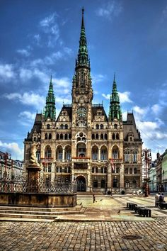 The gorgeous City Hall in Liberec, Czech Republic.