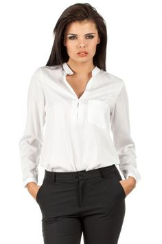 Extravagant white shirt for ladies