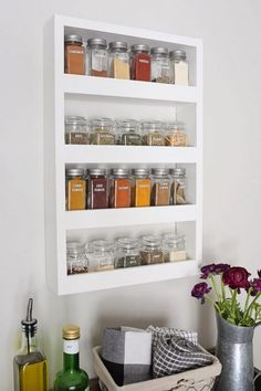 This clever spice rack organization makes your kitchen more functional,and beautiful too 8