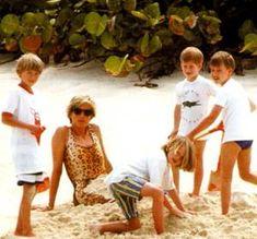 Diana Princess Of Wales Holiday In Virgin Isles _  Avril 1990