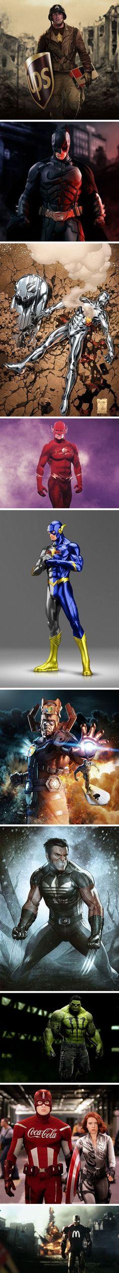 #SacaBien: 12 superhéroes que tuvieron que aceptar auspicio - Diviértete - Espacio360