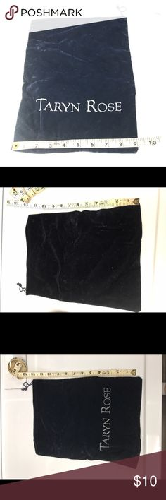 Vintage Taryn Rose black velvety dust bag! Vintage Taryn Rose black velvety dust bag with sparkly letters. Came with my first pair of TR shoes from her first line. Smoke free home. Taryn Rose Shoes