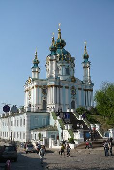 St Andrew Ukrainian Orthodox Church in Kiev harritage and architecture