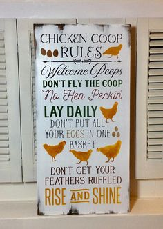 12 Badass Chicken Coop Signs for your Gang of Chickens - Chicken Recipes Chicken Coop Designs, Chicken Coop Decor, Chicken Signs, Best Chicken Coop, Backyard Chicken Coops, Chicken Coop Plans, Building A Chicken Coop, Chickens Backyard, Chicken Decorations