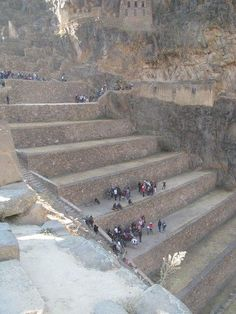 Who could of used these steps?  Terraces of pumatallis ollantaytambo, Peru