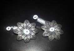 Black Spinning Flower Loc Jewel Slide 2 pc by NaturalJaurney, $12.00