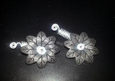 Black Spinning Flower Loc Jewel Slide 2 pc by NaturalJaurney, $12.00