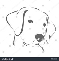 Find Labrador Head 2 stock images in HD and millions of other royalty-free stock photos, illustrations and vectors in the Shutterstock collection. Pencil Art Drawings, Animal Drawings, Easy Drawings, Art Sketches, Dog Face Drawing, Labrador, Animal Templates, Dog Silhouette, Rock Painting Designs