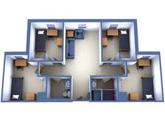 Suite 4 Single Rooms College In 2019 Dorm Room Designs Dorm Layout, Dorm Room Layouts, Dorm Room Designs, Preppy Dorm Room, University Housing, Syracuse University, Bathroom Floor Plans, Sims House Design, Student House