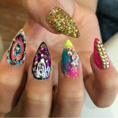 These nails are crazy and cute
