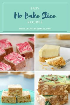 No Bake Slice Recipes - for conventional and Thermomix cooking - Create Bake Make Cooking With Kids Easy, Kids Cooking Recipes, Easy Meals For Kids, Baking Recipes, Healthy Cooking, Tea Recipes, Sweet Recipes, No Bake Desserts, Thermomix
