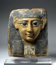 Egyptian Wooden Sarcophagus Mask / Bust; Ptolemaic; Provenance: private Swiss collection collected before 1972; $10,000; ArtemisGallery 6/29/17