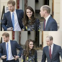 Prince William, Duke of Cambridge and Catherine, Duchess Of Cambridge and Prince Harry seen leaving after a briefing to announce plans for Heads Together ahead of the 2017 Virgin Money London Marathon at ICA on January 17, 2017 in London, England. #catherinemiddleton #katemiddleton #duchessofcambridge #princewilliam #dukeofcambridge #Princeharry