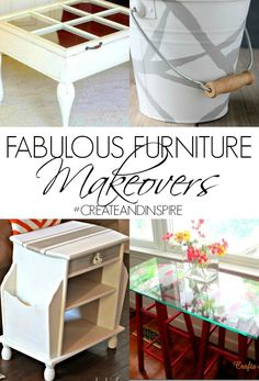 Fabulous Furniture Makeovers >> #CreateandInspire Features bucket make cute trash can????