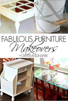 Fabulous Furniture Makeovers>> #CreateandInspire Features bucket make cute trash can????