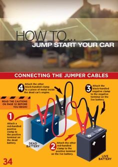 How To Jump A Car Begin with Both Cars Off - Survival and Prepping Survival Prepping, Survival Skills, Jump A Car, Electrical Tester, Car Engine, Life Advice, Dyi, Motorcycles, Knowledge