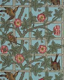 Trellis Thistle/Rose från William Morris & Co  Tapet till biblioteket