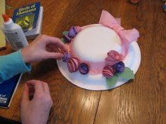 Almost Unschoolers: Paper Plate Millinery - Easter Bonnets for Children ~ Can also be Tea Party Hats