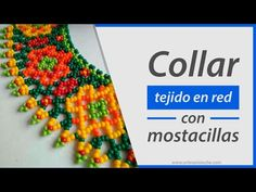 Collar tejido en red (esquema paso a paso) Diseño N° 03 - YouTube Gold Jewelry Simple, Simple Necklace, Beaded Collar, Gold Jewellery Design, Beading Tutorials, Diy Videos, Beaded Jewelry, Jewelry Making, Beads