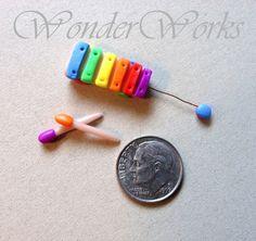 Make Some Mini Music  Handsculpted Original 112 by wonderworks, $12.00