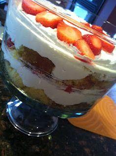 Paula Dean's Strawberry Shortcake Trifle - Day 17