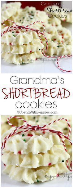 Grandma's Shortbread Cookies! This has been my favorite Christmas Cookie since I was a little girl! ♥️ Buttery, melt in your mouth and delicious!