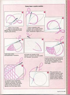 Machine Embroidery Stitches Guide until Embroidery Thread Storage Boxes Basic Embroidery Stitches, Needlepoint Stitches, Learn Embroidery, Japanese Embroidery, Embroidery Techniques, Ribbon Embroidery, Embroidery Thread, Cross Stitch Embroidery, Embroidery Patterns