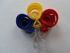 Birthday Balloons Grossgrain Hair Bow Clip by AmySmithCreations, $5.00
