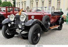 Rolls-Royce RR Phantom I red, built in 1927, vintage car, Retro Classics meets Barock 2012, Ludwigsburg, Baden-Wuerttemberg - Stock Image