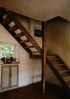 Maybe With A Midway Landing We Can Make Better Use Of The Small  Backyard/access. Rustic StaircaseSmall StaircaseOpen StairsBasement ...