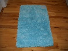 Girls Bedroom Decor Aqua Blue Paper Chindi Rug Teen Bedroom Area Rugs By  Elite Collection.