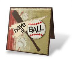 Guy card! Baseball addition and Creative Cuts Sports Pattern.