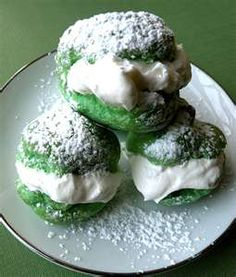 cream puffs...Fun for St. Patrick's Day