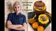 Vegan Cornbread Stuffing in a Pumpkin