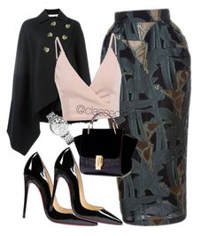 """""""Untitled #241"""" by mama-liciuos ❤ liked on Polyvore featuring Emanuel Ungaro, Victoria Beckham, Christian Louboutin and Tommy Hilfiger"""