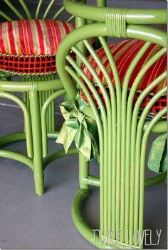 Painting Wicker Furniture, Bamboo Furniture, Furniture Refinishing, Repurposed Furniture, Garden Furniture, Painted Furniture, Chair Makeover, Furniture Makeover, Furniture Ideas