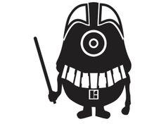 Darth Vader Minion vinyl decal sticker