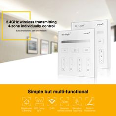 Milight T1 AC220V 4-Zone Brightness Dimming Smart Panel Remote Controller led single color dimmer for led strip lamp or bulb