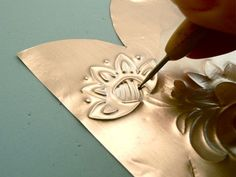 How to Make an Embossed metal item - CraftStylish Photo