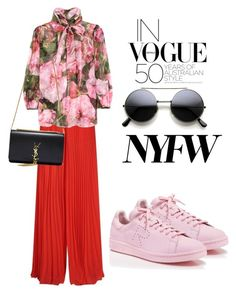 """""""NYWF"""" by omahtawon ❤ liked on Polyvore featuring Elie Saab, Dolce&Gabbana, adidas and Yves Saint Laurent"""