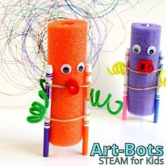Pool Noodle Art Bots