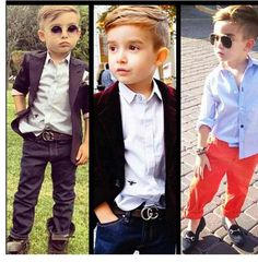 Boys fashion , I hope my son can be this stylish .