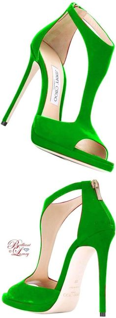 Brilliant Luxury by Emmy DE ♦ Jimmy Choo Lana Sandals Pretty Shoes, Beautiful Shoes, Zapatos Shoes, Shoes Heels, Strap Heels, Ankle Strap, Mode Glamour, Manolo Blahnik Heels, Green Shoes