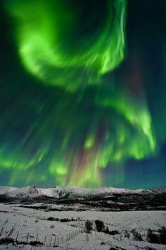 Green explosion over the Vesterålen Islands