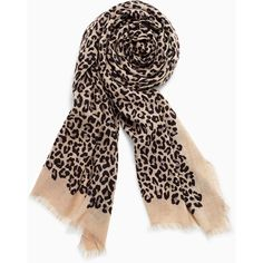 Stella & Dot Park Slope Scarf - Exotic Leopard (78 CAD) ❤ liked on Polyvore featuring accessories and scarves