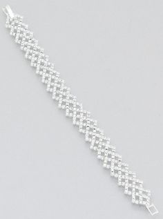Rhinestone Diamond Shape Bracelet – JaeBee Jewelry