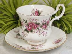 NEWLY LISTED - Royal Albert Bone China - Lavender Rose Coffee Cup & Saucer